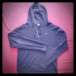 lightweight blue drawstring hoodie
